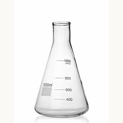 Simax Erlenmeyer Borosilicate Glass Conical Flask Wide Neck 1000ml