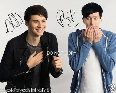 """Dan and Phil Reprint Signed 8x10"""" Photo RP Autographed #2 YouTube"""