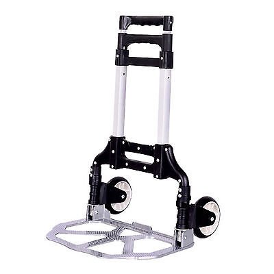 Folding Dolly Cart Push Hand Truck Moving Warehouse Platform Trolley 170lbs
