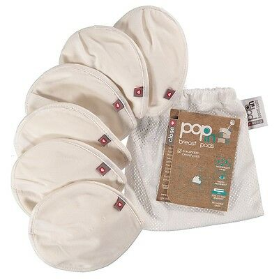 Close Parent Reusable Washable Pop In Breast Pads with wash bag 6 Pack