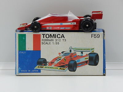 1:55 Ferrari 312 T3 with Decal Sheet - Made in Japan Tomica F59
