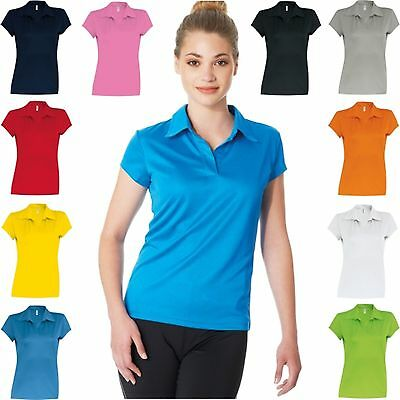 PROACT DAMEN SPORT FUNKTIONS POLOHEMD kurzarm SHIRT Ladies Freizeit  - S-XL(B)