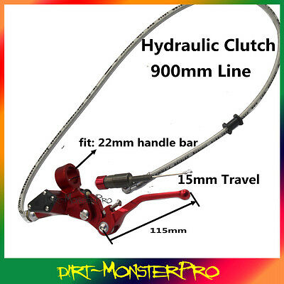 900mm Hydraulic Clutch Lever Master Cylinder Oil Hose Dirt Pit Bike ATV Buggy