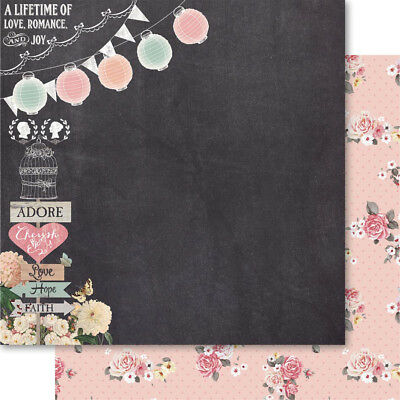 """Bella! Rustic Charm Double Sided Cardstock 12""""X12"""" Romance RM83"""