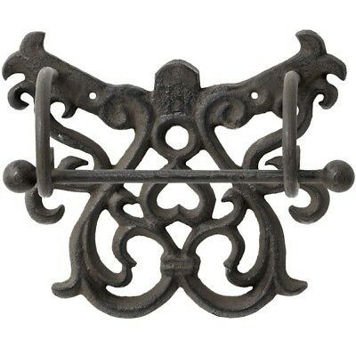 Cast Iron Toilet Roll Holder - Rustic Vintage Chic