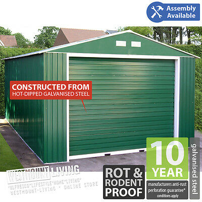 NEW 12x20FT 12x26FT 12x32FT 12x38FT METAL STEEL WORKSHOP UNIT CAR GARAGE