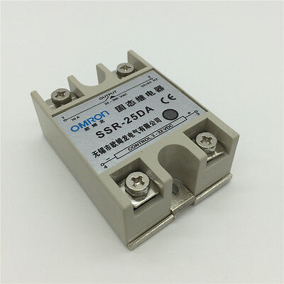 DA 25A DC/AC 24V-380V Solid State Relay for PID Temperature Controller SSR-25