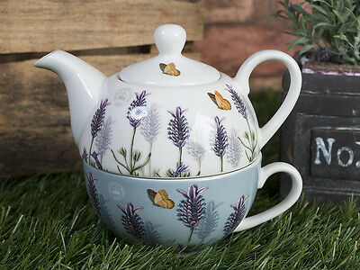 ROYAL BOTANIC GARDENS, KEW Lavender TEA FOR ONE, Teapot & Cup