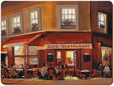 Set of 2 EVERYDAY HOME Evening Cafe LARGE CORK-BACKED PLACEMATS