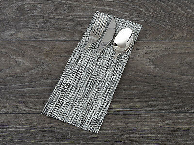 CUTLERY POUCH Table Setting GREY SPECKLED VINYL