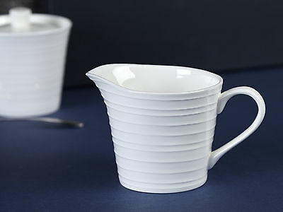 MIKASA Ciara White Bone China FLUTED MILK JUG, Creamer