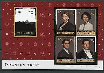 Gambia 2014 MNH Downton Abbey 4v M/S II Countess Grantham Thomas Barrow Stamps