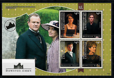 Grenada Grenadines 2014 MNH Downton Abbey 4v M/S I Earl Countess Grantham Stamps