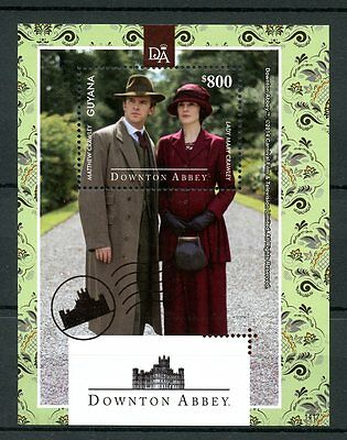 Guyana 2014 MNH Downton Abbey 1v S/S Matthew Crawley Lady Mary Stamps