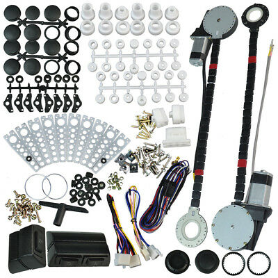 Universal Electric Power Window Lift Regulator Conversion Kit 2 Door Pickup