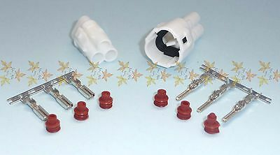 Sumitomo Sealed MT 3 way connector, MALE & FEMALE set with pins, sockets & seals