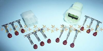 HM 6 way connector MALE & FEMALE set with pins, sockets & seals, Sumitomo SEALED