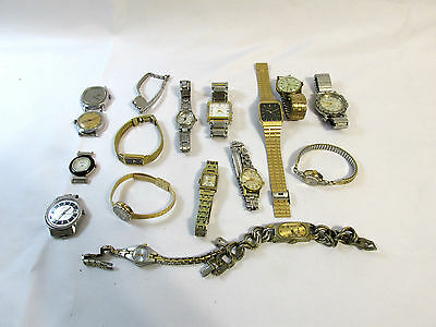Watch Lot #1 17 Watches *parts Or Repair*