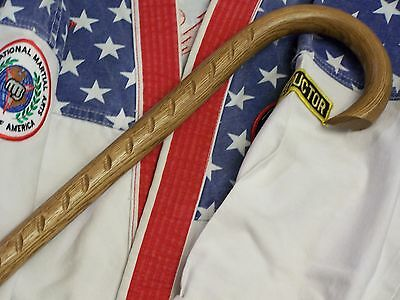 Saw Tooth Combat Cane- Self Defense- Martial Arts- Custom Oak Cane- Usa