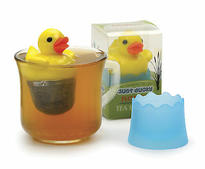 """RSVP Tea Infuser Just Ducky 2"""" Floating Duck Stainless Steel Mesh Drip Cup DUCKY"""