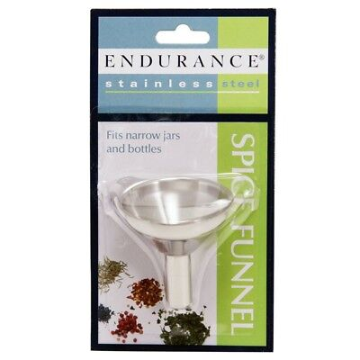 RSVP Herb/Spice Funnel Fill Small Bottles Jars Stainless Steel Endurance S-FUN