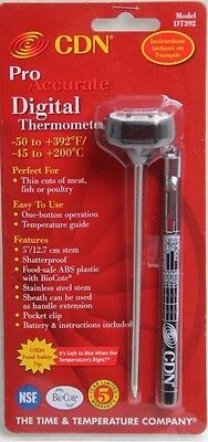 CDN Digital Kitchen Thin Meat Thermometer Fish/Steak/BBQ/Barbeque DT392