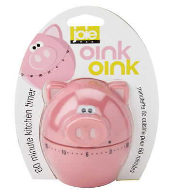 Joie Piggy Wiggy Pig Shaped Functional Kitchen Timer 60 Minute Baking Cooking