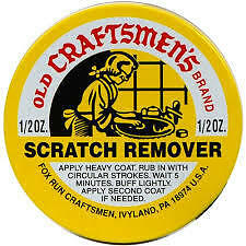 Fox Run 1/2 Oz Old Craftsmen's Scratch Remover Scuffed Wood Leather Buff Lightly