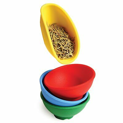Norpro Set of 4 Mini Silicone Pinch Bowls, Assorted Colors