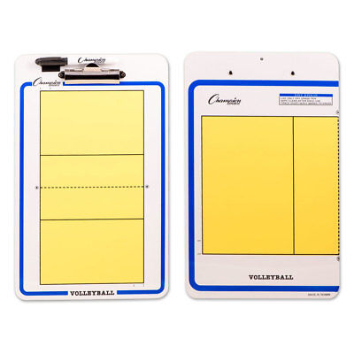 Champion Dry Erase 2 Sided Volleyball Coaching Board With Marker CBVB