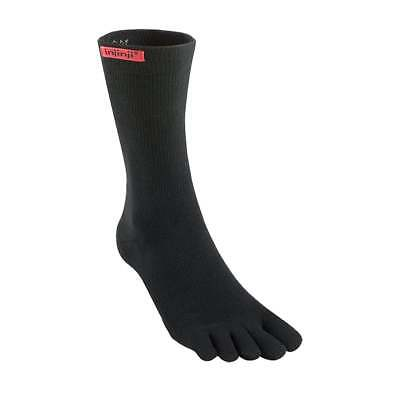 Injinji Performance Sport Original Weight Crew CoolMax Toe Socks- Black-Medium