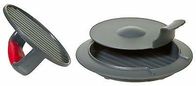 Progressive Perfect Burger Press 3 Piece with Removable Dimple Insert New HPM-10