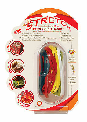 Architec Silicone Hot Cooking Bands Reusable Butchers Twine Grill BBQ Meat Ties.