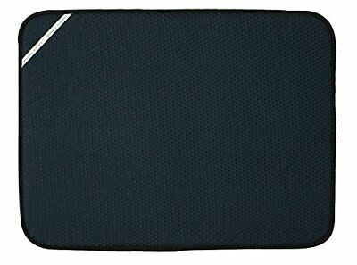 "Envision Home Xl Dish Drying Mat Black 24"" L _ 18"" W Microfiber Absorbent 41378"