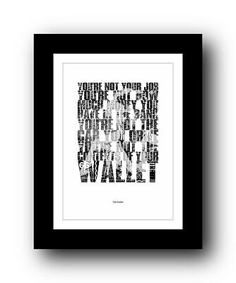 Fight Club ❤ Typography movie quote poster art limited edition print #34