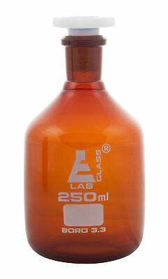 250ml Amber Reagent Bottle , with Acid Proof Polypropylene stopper, socket 19/26
