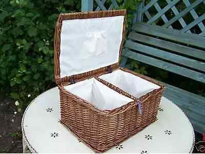 Wicker Honeycroft Nappy Stacker Farmhouse French Traditional  Basket Gift
