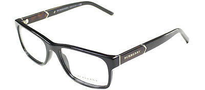 Burberry Eyeglasses BE2150 3001 55mm Shiny Black Rectangle Frame 55mm