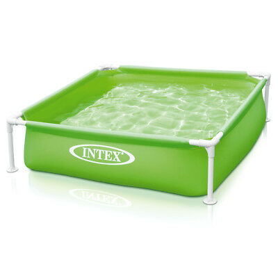 INTEX Frame Babypool Kinderpool 122x122x30cm Swimmingpool Planschbecken Grün