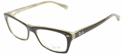 Ray Ban Eyeglasses RX5255 5075 Havana Transparent Plastic Frame 51mm