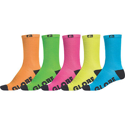 Globe Boys Neon Crew Sock 5 Pack
