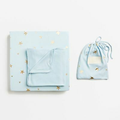 Wilson & Frenchy Ice Blue Starburst Bassinet Sheet Set
