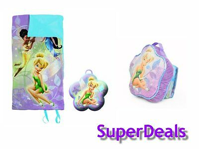 Disney TinkerBell On The Go Travel Pillow and Slumber Sack Combo Set