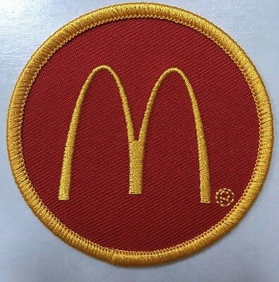 "McDonald's patch  Golden Arches embroidered McDonalds patch 2.5"" dia."
