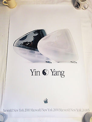 """Apple iMac introduction """"Yin Yang"""" Poster - UNUSED Condition - Rolled since 2000"""