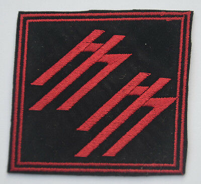 MARILYN MANSON MM RED 7cm Embroidered Sew Iron On Cloth Patch Badge APPLIQUE