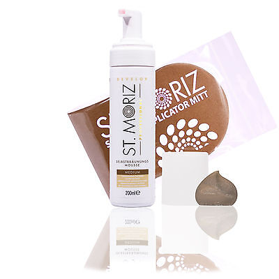 St. Moriz Medium Professional Selbstbräunungsmousse 200ml & Original-Applikator