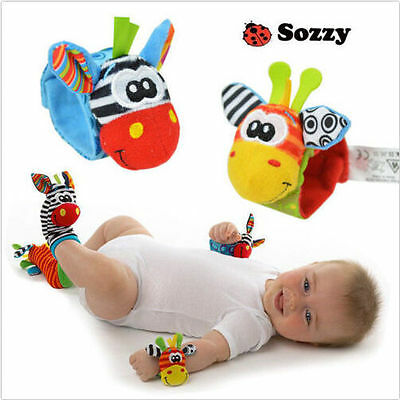 Bell Rattles Toys Hot New Lovely Foot socks Soft Baby Infant Activity Sozzy