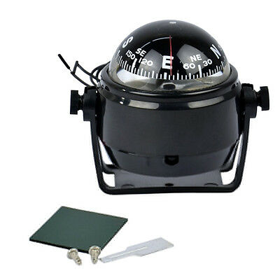 1x Electronic Sea Marine Digital Compass With 12V LED For Boat Caravan Truck