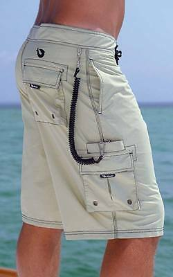 Mojo Traditional Board Short Fishing Surfing Cargo Pocket- Pick Color-Free Ship
